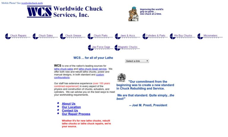Worldwide Chuck Services, Inc.